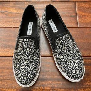 Steve Madden Evada Rhinestone Slip On Sneakers